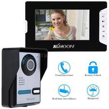 """7"""" Videocitofono LCD Sblocca IR Visione Notturna Antipioggia Sicurezza Casa Z0Y5"""