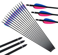 Archery Feathers Fletched Carbon Arrows Spine 550 Recurve Bow Hunting Target