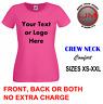 Personalised Custom Printed T Shirts Ladies Hen Do Baby Shower Parties Work Wear