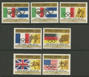 STAMPS-HONDURAS. 1968. Mexico Olympics Games Set. SG: 726/32. Mint Never Hinged