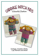 CABBAGE PATCH DOLLS CLOTHES  - 2 styles - VINTAGE KNITTING PATTERN