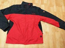Timberland Weathergear Waterproof Winter Jacket L Red Black Fleece Lining Men's