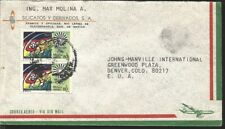 J) 1972 MEXICO, MUNICH OLYMPIC GAMES, PAIR, MULTIPLE STAMPS, AIRMAIL, CIRCULATED
