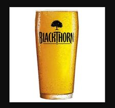 2 X NEW BLACKTHORN CIDER PINT GLASSES WITH LOGO