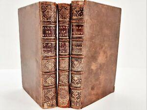 1729 Complet 3/3 LE PARADIS PERDU DE MILTON Poème Héroïque traduit par ADDISSON