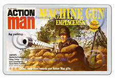ACTION MAN RETRO MACHINE GUN EMPLACEMENT BOX ART NEW JUMBO FRIDGE LOCKER MAGNET