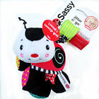 Sassy Baby Kid Child Crinkle Rattle Jingle Jitter Flutter Bug Soft Rag Doll Toy