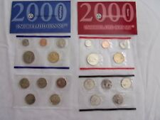 2000 US Uncirculated Coin Sets - P & D mint, state Quarters, original wrapper