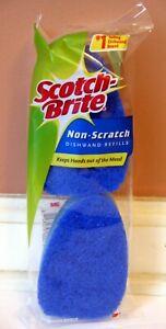 Scotch-Brite 3M Non-Scratch Dishwand Sponge Refills 2 pack Original w/ NO HOLES!
