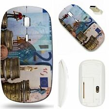 Personalised 2.4GHz Laser Wireless Mouse Optical slim Laptop PC + USB receiver