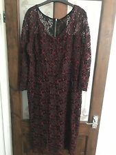 Tu By Sainsburys Glamerous Baby & Christmas Red Dress Size 20