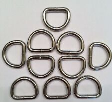 """10 Pack of 3/4"""" Solid Dee Rings 1131-12 Tandy Leather Strap Steel Dees Ring"""