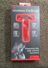 Voltix Bluetooth® Earbuds With Built In Mic New- Red