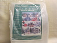 Mary Maxim Exclusive Musical Village Plastic Canvas Kit # 7292 Town Hall
