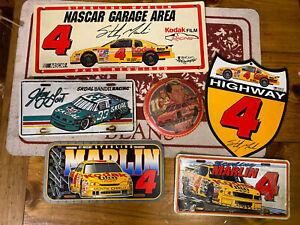 Lot Of Nascar License Plates/signs Skoal Bandit Racing/sterlin Marlin