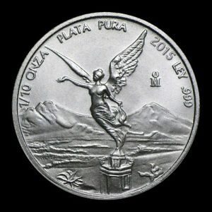 2015 1/10 oz Mexican Libertad 999 Fine Silver BU Coin #5