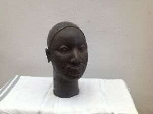 AFRICAN BENIN BRONZE HEAD  RARE 19th CENTURY QUALITY CASTING