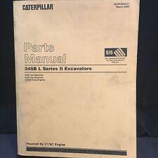 Caterpillar 345B L Series II Excavator Trackhoe Parts Manual AGS ALB SEBP2985-01