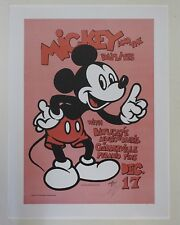 Mickey Hart & the Daylites Garberville Poster 70's/80's Signed By Alton Kelley