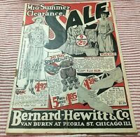 Bernard Hewitt & Co Chicago IL Clothing Fashion Catalog/Flyer-Early 1900's-18 pg