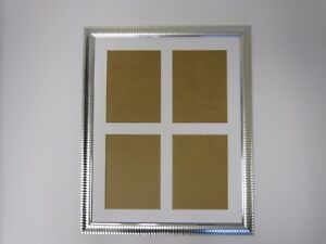 Two Tone Silver Multi Aperture 12x16 Picture Photo frame Holds 4x6 Photos