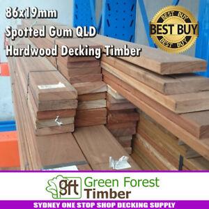 86x19 Spotted Gum QLD Hardwood Decking Timber. SET LENGTH