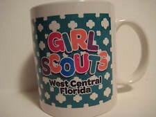 "Vintage Original Green GIRL SCOUTS West Central Florida Mug Cup 3.75X3.25"""