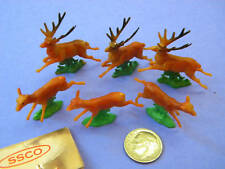 VINTAGE,COLLECTIBLE, DEER, SET OF 6, Made in Hong Kong