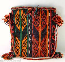 KIRGHIZSTAN  ! SAC BANDOULIERE, laine de yak tissée et teinte à la main, RARE
