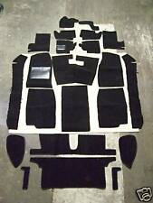 MGB 1962-1967 BLACK LOOP INTERIOR CARPET KIT with 20 ounce padding