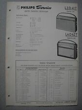 Philips L3D41T Evette 341 L4D42T Babette 442 Kofferradio Serv.  Man. Ausg. 02/64