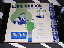 DECCA 78 rpm set EDDIE CONDON 4 Records Complete We Called It Music TRAD JAZZ