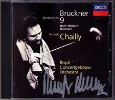 Riccardo CHAILLY Signiert BRUCKNER Symphony No.9 BACH WEBERN Fuga ricercata CD