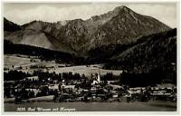 BAD WIESSEE Bayern 1935 mit Kampen Alpen Berge Panorama Postkarte ungelaufen