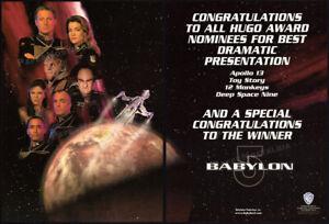 BABYLON 5__Original 1996 Trade AD / poster__BRUCE BOXLEITNER__CLAUDIA CHRISTIAN
