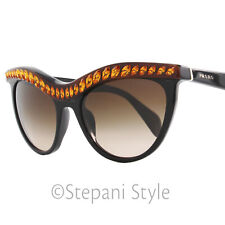 4738954582 Prada Sunglasses SPR04P NAC-6S1 Shiny Black Amber 04PS