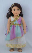 "Meg from Hercules Greek Custom american girl 18"" doll green eyes & burgundy hair"