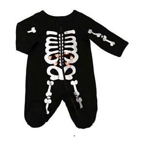 Celebrate Halloween Sleep and Play 0-3 mos Baby Girl Infant Skeleton Pajama PJ