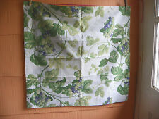 PIERRE FREY- TWO EURO PILLOW SHAMS-FRANCE- COTTON-WHITE GREEN PURPLE GRAPES