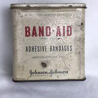 Vintage Band-Aid Johnson & Johnson Adhesive Bandages Metal Tin Box