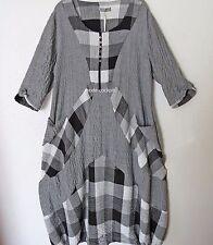 Damenkleider mit Rundhalsausschnitt aus Baumwollmischung in Übergröße