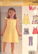 Girl New Look 0996 6279 UNCUT Kids Pattern Dress Top Leggings Size 3-4-5-6-7-8