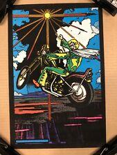 Skyrider Original Vintage Poster Evil Kenevil Velvet BlackLight Pin Up