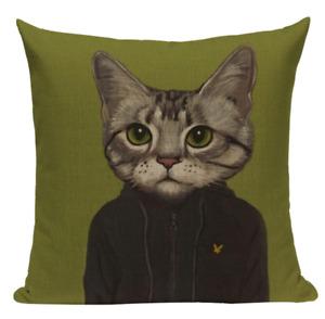 Cat Turtleneck CAT4 Cushion Pillow Cover Cartoon Pet Feline Animal Formal Wear