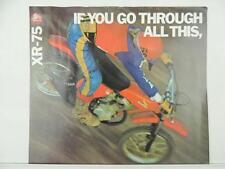 NOS 1978 ? Honda XR75 Motorcycle Dealer Brochure L5587