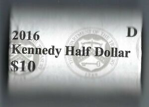 2016-D Brilliant Uncirculated Copper-Nickel Clad Copper Strike 50C Coin Roll!