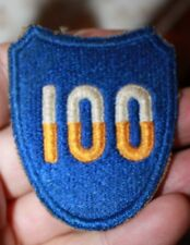 WWII US Army100th Century Division  Shoulder Patch From Forth Knox KY