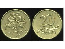 LITUANIE 20  centu 1998  ( bis )
