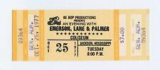 Emerson Lake & Palmer Ticket 1977 Oct 25 Jackson Mississippi Unused
