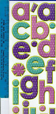 POLKA DOTS LETTERS wall stickers 37 decals Alphabet ABC scrapbook nursery decor
